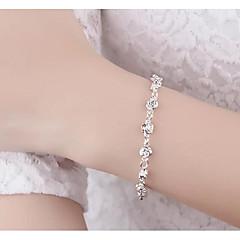 preiswerte Armbänder-Damen Ketten- & Glieder-Armbänder - Blumen / Botanik, Blume Einfach, Modisch Armbänder Silber Für Hochzeit / Verabredung