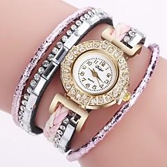 voordelige Kettinghorloges-Dames Kwarts Horlogeketting Chinees Chronograaf PU Band Creatief Modieus Zwart Goud Roze Fuchsia