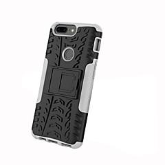 お買い得  その他のケース-ケース 用途 OnePlus 5 / OnePlus 5T 耐衝撃 / スタンド付き / 鎧 バックカバー タイル柄 / 鎧 ハード PC のために One Plus 5 / OnePlus 5T / One Plus 3