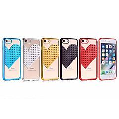 お買い得  iPhone 5S/SE ケース-ケース 用途 Apple iPhone X iPhone 7 超薄型 バックカバー ハート キラキラ仕上げ ソフト TPU のために iPhone X iPhone 8 Plus iPhone 8 iPhone 7 Plus iPhone 7 iPhone 6s Plus