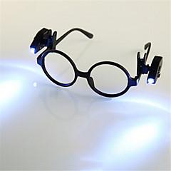 preiswerte Ausgefallene LED-Beleuchtung-HKV 2pcs Lupen LED-Nachtlicht Kühles Weiß Knopf Batteriebetrieben Buch lesen mit Clip Einfach zu tragen Batterie Tong