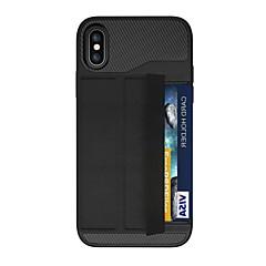 Недорогие Кейсы для iPhone X-Кейс для Назначение Apple iPhone X iPhone 8 Plus Бумажник для карт Магнитный Оригами броня Кейс на заднюю панель броня Твердый ПК для