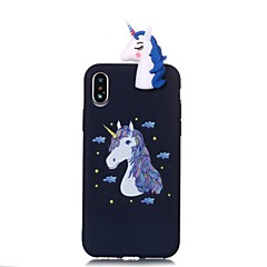 cheap iPhone Cases-Case For Apple iPhone X iPhone 8 Pattern DIY Back Cover Unicorn Soft TPU for iPhone X iPhone 8 Plus iPhone 8 iPhone 7 Plus iPhone 7