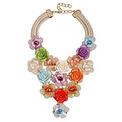 preiswerte Halsketten-Damen Y Halskette - Blume Klassisch, Modisch, überdimensional Regenbogen 49 cm Modische Halsketten Schmuck Für Zeremonie, Party