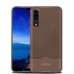 お買い得  Huawei Pシリーズケース/ カバー-ケース 用途 Huawei P20 lite P20 超薄型 バックカバー ソリッド ソフト TPU のために Huawei P20 lite Huawei P20 Pro Huawei P20