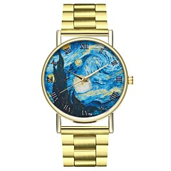 Χαμηλού Κόστους Ατσάλινο μπρασελέ για ρολόγια-Γυναικεία Κινέζικα Χρονογράφος / Δημιουργικό / Μεγάλο καντράν Ανοξείδωτο Ατσάλι Μπάντα Μινιμαλιστική Χρυσό