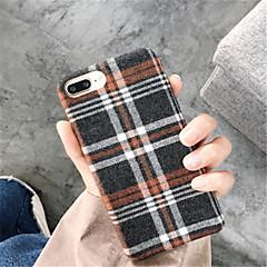 Недорогие Кейсы для iPhone 7 Plus-Кейс для Назначение Apple iPhone X iPhone 7 Plus С узором Кейс на заднюю панель Полосы / волосы Мягкий текстильный для iPhone X iPhone 8