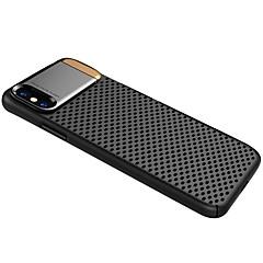 Недорогие Кейсы для iPhone 7 Plus-Кейс для Назначение Apple iPhone X iPhone 8 Защита от удара со стендом Кейс на заднюю панель Однотонный Твердый Металл для iPhone X