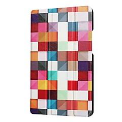 preiswerte Tablet-Hüllen-Hülle Für Huawei MediaPad MediaPad T3 8.0 mit Halterung Ganzkörper-Gehäuse Wort / Satz Eiffelturm Tier Hart PU-Leder für Huawei MediaPad