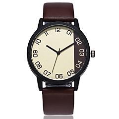 preiswerte Herrenuhren-Herrn Damen Quartz Einzigartige kreative Uhr Chinesisch Armbanduhren für den Alltag PU Band Freizeit Modisch Schwarz Braun Grün Dunkelgrün