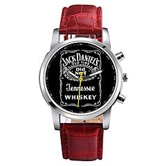お買い得  メンズ腕時計-男性用 クォーツ ドレスウォッチ 中国 クロノグラフ付き PU バンド カジュアル ブラック / 白 / ピンク