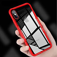 Недорогие Кейсы для iPhone 5-Кейс для Назначение Apple iPhone X / iPhone 8 Защита от удара / Зеркальная поверхность Кейс на заднюю панель Однотонный Твердый Силикон для iPhone X / iPhone 8 Pluss / iPhone 8