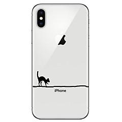 Недорогие Кейсы для iPhone 6-Кейс для Назначение Apple iPhone X iPhone 8 Прозрачный С узором Кейс на заднюю панель Кот Мягкий ТПУ для iPhone X iPhone 8 Pluss iPhone 8