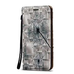 Недорогие Кейсы для iPhone 7 Plus-Кейс для Назначение Apple iPhone X iPhone 8 Plus Бумажник для карт Кошелек Флип Чехол одуванчик Твердый Кожа PU для iPhone X iPhone 8