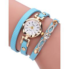 preiswerte Damenuhren-Damen Armband-Uhr 30 m Chronograph PU Band Analog Armreif Modisch Schwarz - Blau Rosa Bronze Ein Jahr Batterielebensdauer / Edelstahl / SSUO LR626