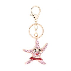 cheap Keychains-Keychain Jewelry Light Blue / Light Brown / Light Pink Starfish Alloy Casual / Fashion Gift / Daily