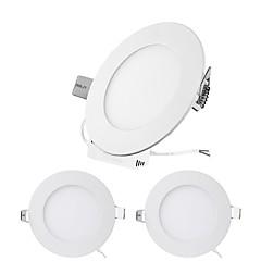 abordables Luces de Interior-ZDM® 3pcs 3W 15 LED Fácil Instalación / Luz Empotrada Luces de Panel / Luces LED Descendentes Blanco Cálido / Blanco Fresco / Blanco