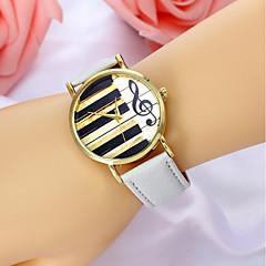 preiswerte Damenuhren-Damen Quartz Armbanduhr Armbanduhren für den Alltag Leder Band Modisch Schwarz Weiß Braun Rosa