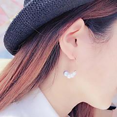 お買い得  イヤリング-女性用 真珠 淡水パール フープピアス - ステンレス鋼 ゴールドメッキ 淡水パール レディース ファッション ジュエリー ゴールド 用途 パーティー デート