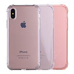 お買い得  iPhone 5S/SE ケース-ケース 用途 Apple iPhone X / iPhone 8 耐衝撃 / クリア / 半透明 バックカバー ソリッド ソフト TPU のために iPhone X / iPhone 8 Plus / iPhone 8