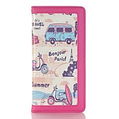 Недорогие Кейсы для iPhone-Кейс для Назначение Apple iPhone 6 Plus / iPhone 7 Plus Бумажник для карт / Кошелек / со стендом Чехол Вид на город Твердый Кожа PU для