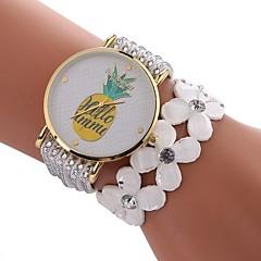 お買い得  レディース腕時計-女性用 ブレスレットウォッチ 中国 カジュアルウォッチ / かわいい / 模造ダイヤモンド PU バンド ボヘミアンスタイル / ファッション ブラック / 白 / ブルー