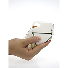 Недорогие Кейсы для iPhone 6 Plus-Кейс для Назначение Apple iPhone X / iPhone 7 Ультратонкий / С узором / Милый Кейс на заднюю панель Мультипликация Мягкий ТПУ для iPhone