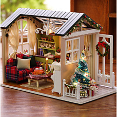 abordables Casas de Muñecas y Accesorios-Casa de Muñecas Creativo Exquisito Navidad Mini Casa Romántico 1 pcs Piezas Todo Chica Juguet Regalo