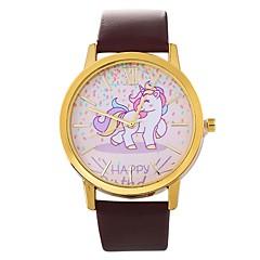 お買い得  レディース腕時計-女性用 ドレスウォッチ 中国 クロノグラフ付き PU バンド クリエイティブ / ファッション ブラック