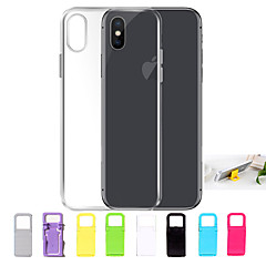 voordelige iPhone 6 hoesjes-hoesje Voor Apple iPhone X / iPhone 8 / iPhone 7 Ultradun / Transparant Achterkant Effen Zacht TPU voor iPhone X / iPhone 8 Plus / iPhone