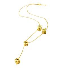 お買い得  ネックレス-女性用 チョーカー  -  ゴールドメッキ レディース, ファッション ゴールド 10#7#1 cm ネックレス ジュエリー 用途 誕生日, 贈り物