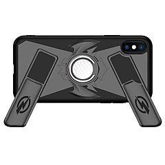 Недорогие Кейсы для iPhone 6-Кейс для Назначение Apple iPhone X / iPhone 8 Кольца-держатели / броня / Игровой случай Кейс на заднюю панель броня Твердый ПК для iPhone