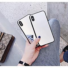 Недорогие Кейсы для iPhone-Кейс для Назначение Apple iPhone X / iPhone 6 Зеркальная поверхность Кейс на заднюю панель Однотонный Твердый Закаленное стекло для