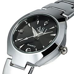 preiswerte Damenuhren-ASJ Damen Armbanduhr / Kleideruhr Chinesisch Kalender Legierung Band Luxus Schwarz / Weiß