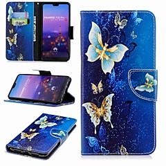 お買い得  Huawei Pシリーズケース/ カバー-ケース 用途 Huawei P20 Pro / P20 lite ウォレット / カードホルダー / スタンド付き フルボディーケース バタフライ ハード PUレザー のために Huawei P20 / Huawei P20 Pro / Huawei P20 lite / P10 Lite / P10