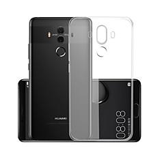 Недорогие Чехлы и кейсы для Huawei Mate-Кейс для Назначение Huawei Mate 10 pro Прозрачный Кейс на заднюю панель Однотонный Мягкий ТПУ для Mate 10 pro