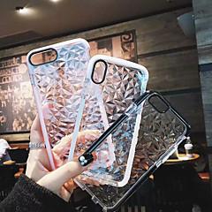 Недорогие Кейсы для iPhone 7 Plus-Кейс для Назначение Apple iPhone X / iPhone 8 Plus Защита от удара Чехол Однотонный Мягкий ТПУ для iPhone X / iPhone 8 Pluss / iPhone 8
