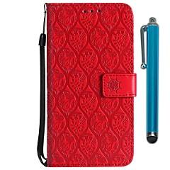 Недорогие Чехлы и кейсы для Motorola-Кейс для Назначение Motorola MOTO G6 / Moto G6 Plus Кошелек / Бумажник для карт / со стендом Чехол Цветы Твердый Кожа PU для MOTO G6 /