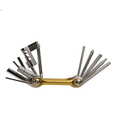 abordables Herramientas, Limpiadores y Lubricantes-Multiherramientas Portátil, Kit de reparación, Multifuncional Bicicleta Acero Dorado / Azul