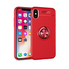 Недорогие Кейсы для iPhone 5-Кейс для Назначение Apple iPhone X / iPhone 8 Plus со стендом / Кольца-держатели / Магнитный Кейс на заднюю панель Однотонный Мягкий ТПУ для iPhone X / iPhone 8 Pluss / iPhone 8