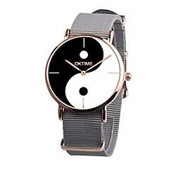 preiswerte Herrenuhren-Herrn Quartz Kleideruhr Chinesisch Chronograph PU Band Freizeit Schwarz / Weiß / Orange