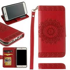 Недорогие Кейсы для iPhone X-Кейс для Назначение Apple iPhone X / iPhone 8 Бумажник для карт / Кошелек / Флип Чехол Мандала Твердый Кожа PU для iPhone X / iPhone 8