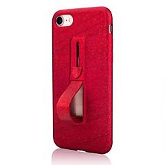 Недорогие Кейсы для iPhone X-Кейс для Назначение Apple iPhone X / iPhone 8 со стендом / Сияние и блеск Кейс на заднюю панель Однотонный / Сияние и блеск Мягкий ТПУ для