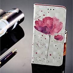 abordables Novedades-Funda Para Huawei P20 lite P20 Pro Soporte de Coche Cartera con Soporte Flip Magnética Funda de Cuerpo Entero Flor Dura Cuero de PU para