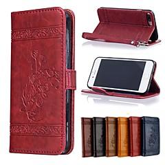 Недорогие Кейсы для iPhone X-Кейс для Назначение Apple iPhone X / iPhone 8 Бумажник для карт / Кошелек / Флип Чехол Цветы Твердый Кожа PU для iPhone X / iPhone 8