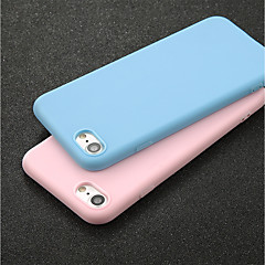 Недорогие Кейсы для iPhone 7 Plus-Кейс для Назначение Apple iPhone X / iPhone 6 Ультратонкий Кейс на заднюю панель Однотонный Мягкий ТПУ для iPhone X / iPhone 8 Pluss /