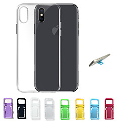 abordables Top Ventas-Funda Para Apple iPhone X / iPhone 8 / iPhone 7 Ultrafina / Transparente Funda Trasera Un Color Suave TPU para iPhone X / iPhone 8 Plus / iPhone 8
