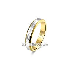 preiswerte Ringe-Bandring - Kupfer, versilbert, vergoldet Retro, Grundlegend 8 / 9 Gold Für Geschenk Alltag