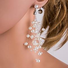 preiswerte Ohrringe-Damen Perle / Süßwasserperle Quaste Kreolen - Perle, Edelstahl, Süßwasserperle Klassisch, Modisch Weiß Für Alltag / Büro & Karriere