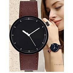preiswerte Damenuhren-Damen Quartz Armbanduhr Chinesisch Chronograph / Armbanduhren für den Alltag Leder Band Mehrfarbig / Modisch Schwarz / Rot / Orange /